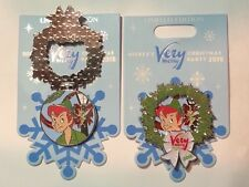 Disney 2018 Mickey Merry Christmas Party Peter Pan & Tinker Bell 3-D Pin LE 5500