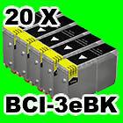 20x TINTE PATRONEN für CANON S400 S450 S500 S520 S530D S600 S630 S750 F60 F80