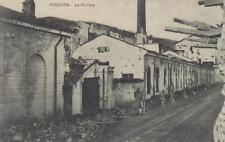 C4062) WW1 PODGORA (GORIZIA), LA CARTIERA BOMBARDATA. VIAGGIATA NEL 1919.