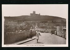 Somerset Weston-super-Mare UPHILL Village c1920/30s? RP PPC advert hoarding