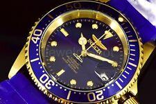 23682 Invicta Pro Diver Automatic Men's 40mm Blu Dial GP Case Silicone Strap Wat