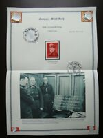 Germany Nazi 1941 Stamp Adolf Hitler WW2 3rd Reich 52nd birthday of Adolf Hitler