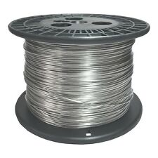 "14 AWG Gauge Stainless Steel 316L Wire 1000' Length 0.0640"" Diameter"