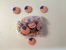 Fourth 4th of July, Independence Day Patriotic Buttons/Pins.Bag of 48, New