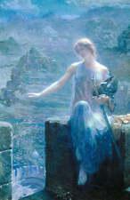 Lady in Blue Night by Edward Robert Hughes