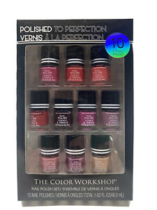 Polished To Perfection Nail Polish Collection The Color Workshop 10 Piece Set