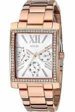 Guess Women's Rose Gold Tone Multi-Function Rectangular Watch U0446L3 MSRP $140