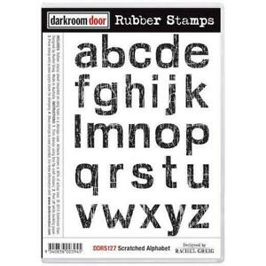 SALE New Darkroom Door Rubber Red Stamp sheet Scratched Alphabet