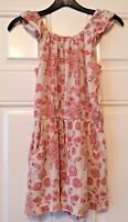 Girls Next Beige Pink Floral All In One Outfit Playsuit Age 9 Years Summer B11