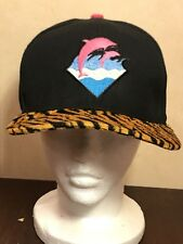 Authentic Pink Dolphin Adjustable Snapback Hat Cap Black Leopard Print