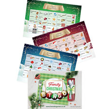 Christmas Bingo Game Cards Xmas Eve Box Fillers Games Kids Adults Stocking Party