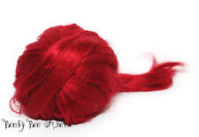 RED Bamboo Rayon Roving Combed Top Felting or Spinning plant Vegan Fiber 4 oz