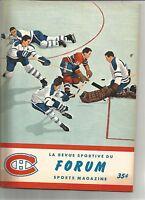 1963 Niagara Falls Flyers Canadiens Juniors NDG Monarchs St Lambert Program