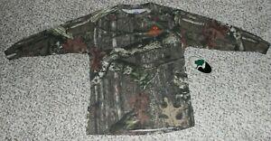 NEW Boy's MOSSY OAK Camo T-Shirt Long Sleeve Size M or L Youth Break-Up Infinity