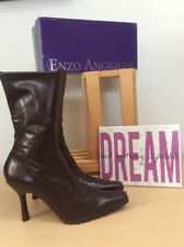 Enzo Angiolini (Fantine) Women's Brown Square PointyToe PullOn Boots 8M PreOwned