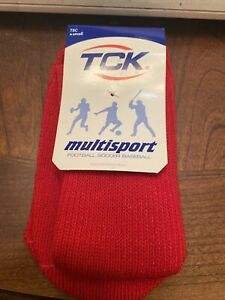 New Youth Red TCK Multisport Polyester/rubber Sock Pair X-Small