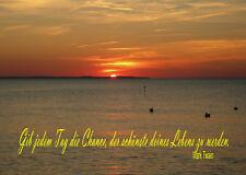 Gib jedem Tag die Chance, der schönste .. (Mark Twain),Coole Postkarte