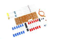 Scheinend Rot blaue LED DIY Kit CD4017 NE555 9V unsolodered Flux Workshop