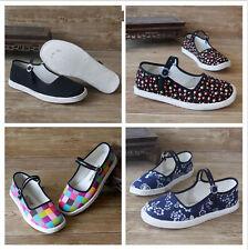 7748 Women's Cloth Shoes Chinese Martial Art Kung Fu Ninja Shoes Flats EUR34-41