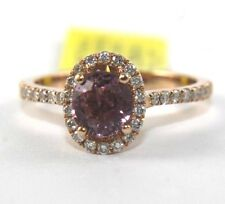Oval Pink Spinel Gemstone & Diamond Solitaire Ring 14k Rose Gold 1.52Ct