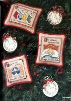 Cross Stitch Pattern NIGHT BEFORE CHRISTMAS Ornaments 11 Stocking Santa Children