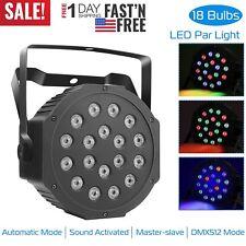 Sound Active 18 Led Rgb Stage Lights Lighting Par Lamp Dmx Disco Party Club Dj