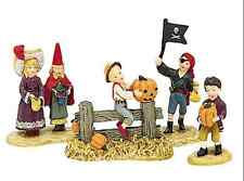 DEPT 56 TRICK OR TREAT, SET OF 4, NEW IN BOX, #53319, HALLOWEEN, PUMPKIN, PIRATE