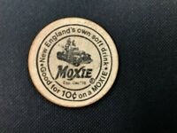 """A MOXIE Soda Advertising Gimmick """"Two Wooden Nickels"""" worth 10 cents off MOXIE"""