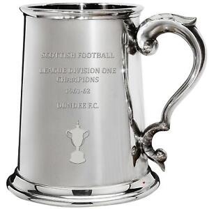Dundee FC 1961 1962 Division One Champions 1 Pint Pewter Tankard