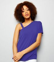 Ladies Purple Off the Shoulder Top Size 6/8/10/12 New Look NEW BNWT