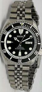 LOVELY BLACK PROSPEX MODDED SEIKO 7S26-0020 SKX007 AUTOMATIC WATCH SN. 2N3453