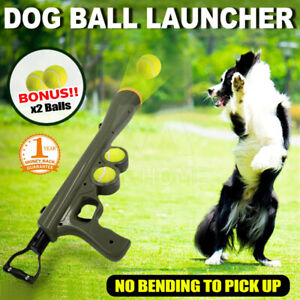 Dog Tennis Ball Gun Launcher  Pet Play Outdoor Toy Fetch Throw Interactive Toy