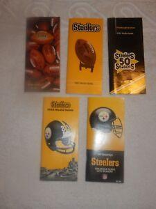 Vintage Pittsburgh Steeler Media Guides 1980 1981 1982 1983 1986