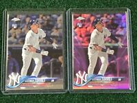 2018 Topps Chrome Update HMT9 Gleyber Torres Pink Refractor RC Rookie 2 Card Lot