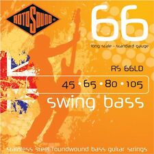 Rotosound RS66LD en acier inoxydable bass guitar strings 45-105 BRITISH MADE!!!