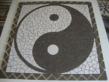 Rosace/Mosaique en carrelage  91x91cm Ying  Yang