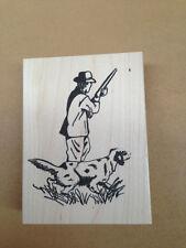 Wood Mounted Rubber Stamp, Bird Dog, Hunter, Hunting Stamps, Stamps for Men, Dad