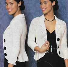 Perfect Fit Blazer Jacket 5 Sizes Women'S Crochet Pattern Instructions