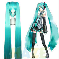 Hatsune Miku Cosplay perruque Halloween droite queue de cheval perruque
