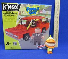K'Nex Family Guy Peter & Station Wagon Building Set NIB w/ Stewie Figurine