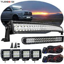 """50"""" 288W Curved Led Light Bar+20/22""""+4"""" Combo Kit Fit Dodge Ram 1500 2500 3500"""