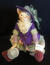 Katherine's Collection Wayne Kleski Retired Victorian Cat Doll Teacup