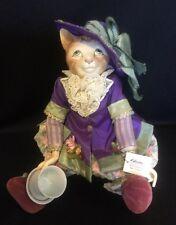 Katherine's Collection Wayne Kleski Retired Victorian Cat Doll Teacup