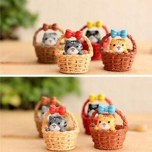Garden Cat Ornament Miniature Figurine Resin Plant Fairy Dollhouse Decor NTP^lk