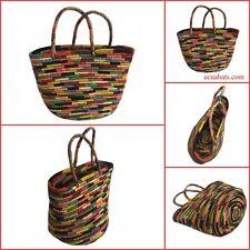 Medium Basket Bag in Paja Toquilla for Summer made in Ecuador