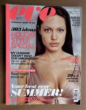 EVE MAGAZINE August 2008 ANGELINA JOLIE cover Vera Wang women's fashion UK