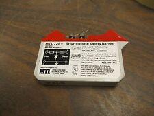 Measurement Technology Shunt-Diode Safety Barrier MTL728 28V Used