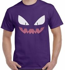 Haunter Face Pokemon Tv Show Catch Em All Poke Unisex T-Shirt Tee Shirt Top
