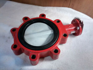 """Bray 6"""" Butterfly Valve Series 31 02-0200-70010-580 Flanged Stem 416SS Cast Iron"""