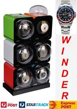 BOXY Fancy Brick Automatic Watch Winder system for six watches-model:6FB-E2-CLRS